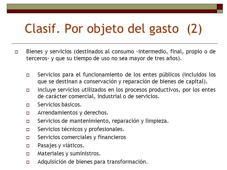 Clasif. Por objeto del gasto (2)