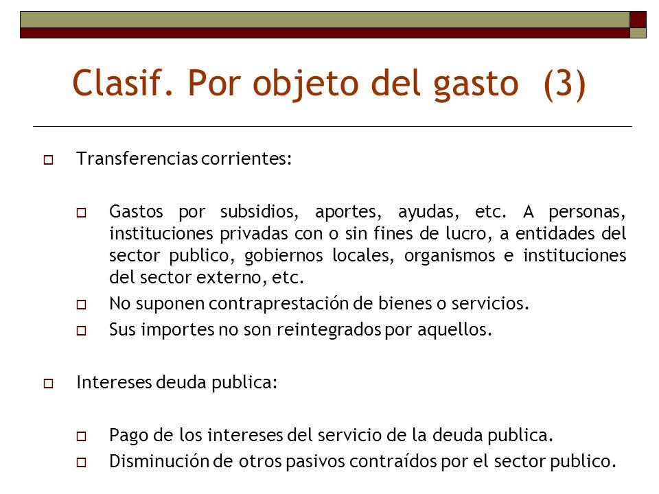 Clasif. Por objeto del gasto (3)