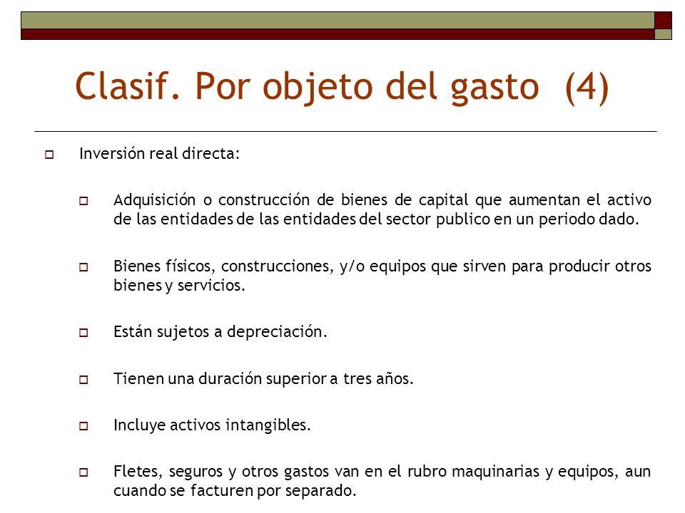 Clasif. Por objeto del gasto (4)