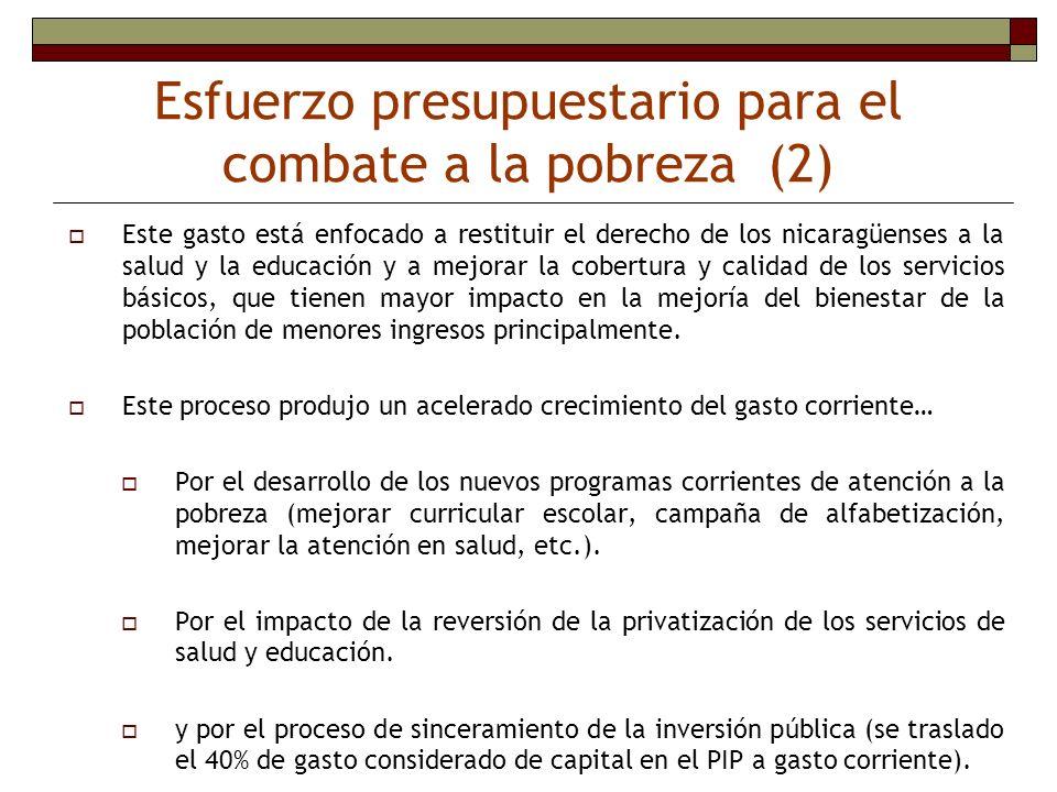 Esfuerzo presupuestario para el combate a la pobreza (2)