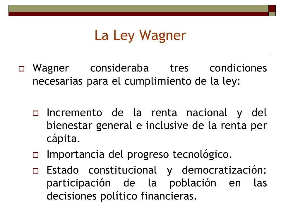 La Ley Wagner Wagner consideraba tres condiciones necesarias para el cumplimiento de la ley: