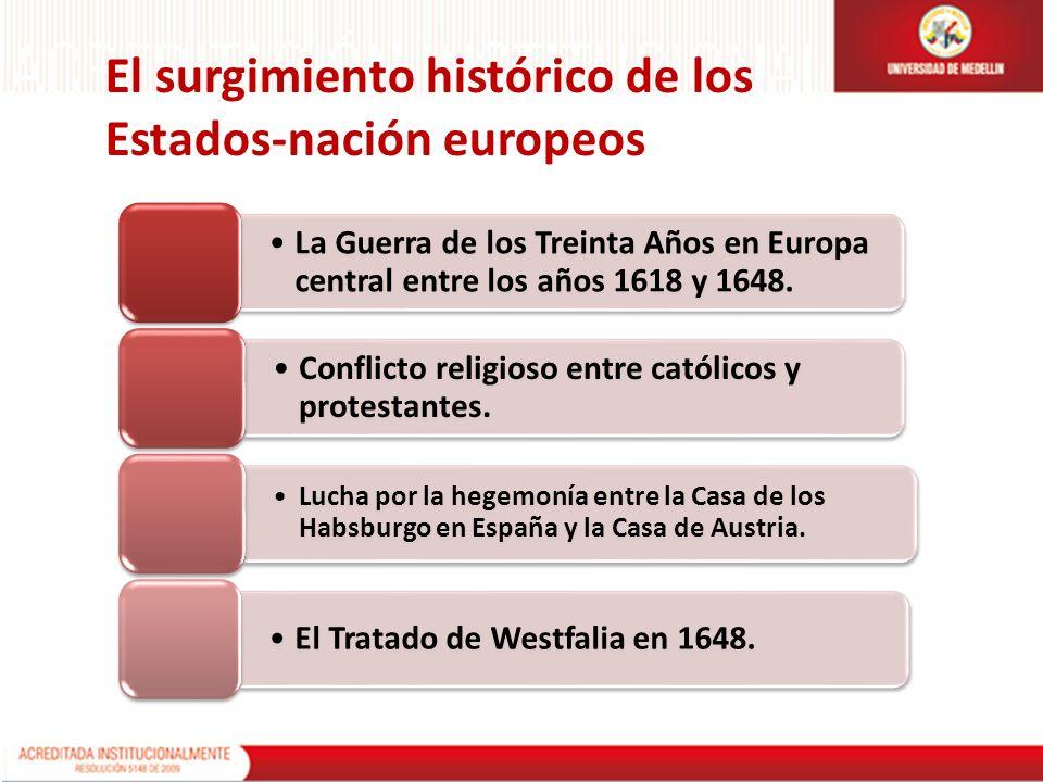 El surgimiento histórico de los Estados-nación europeos