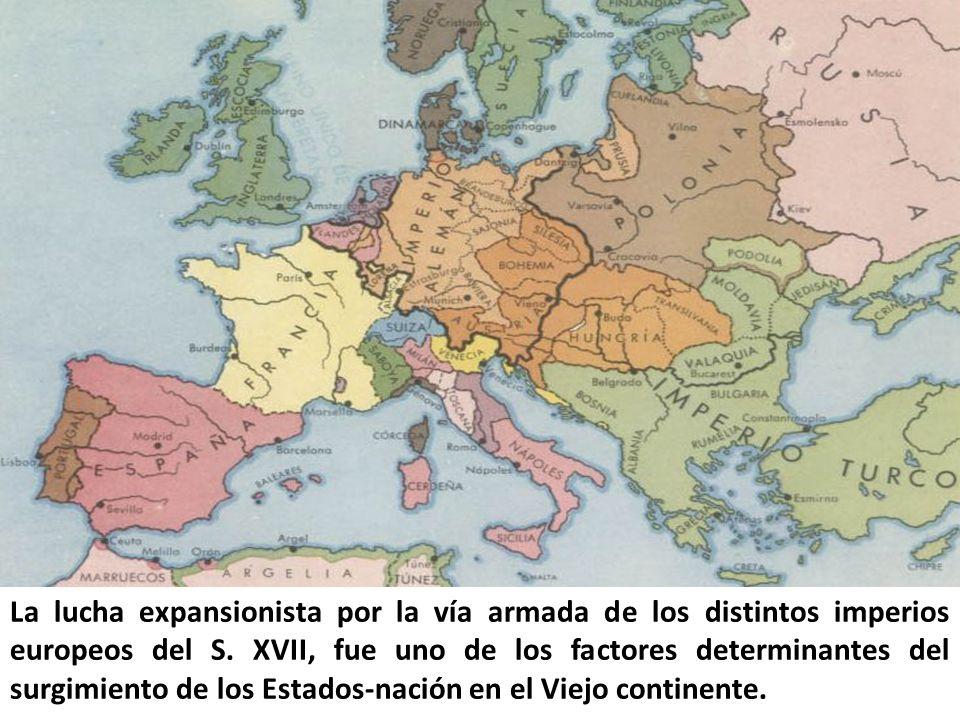 La lucha expansionista por la vía armada de los distintos imperios europeos del S.