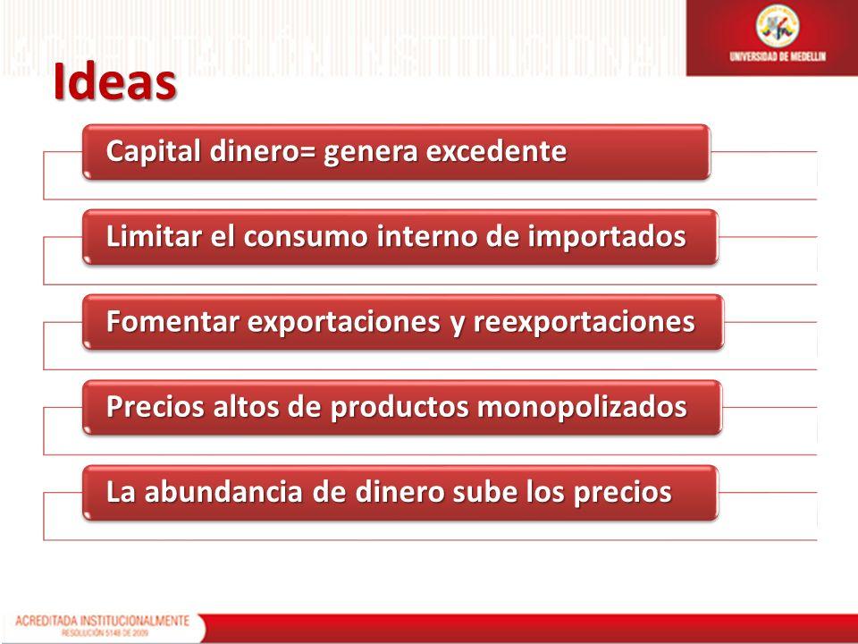 Ideas Capital dinero= genera excedente