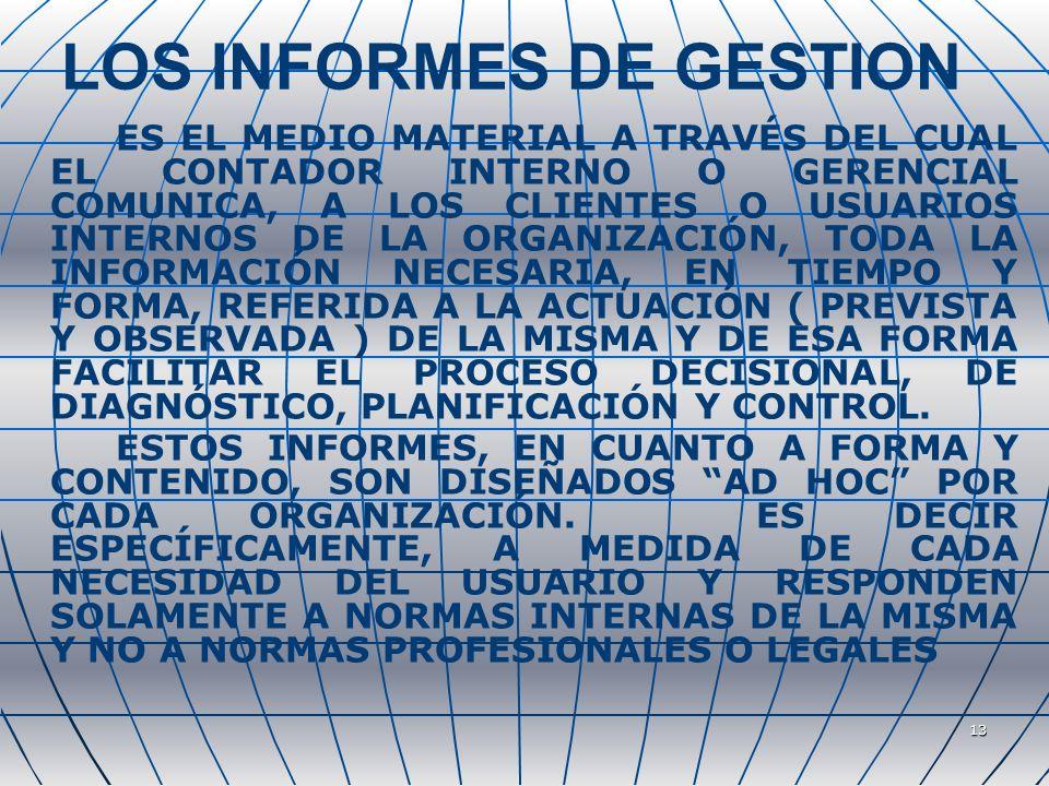 LOS INFORMES DE GESTION