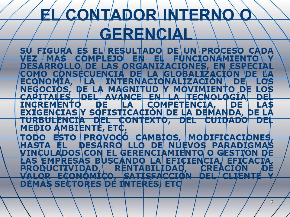 EL CONTADOR INTERNO O GERENCIAL