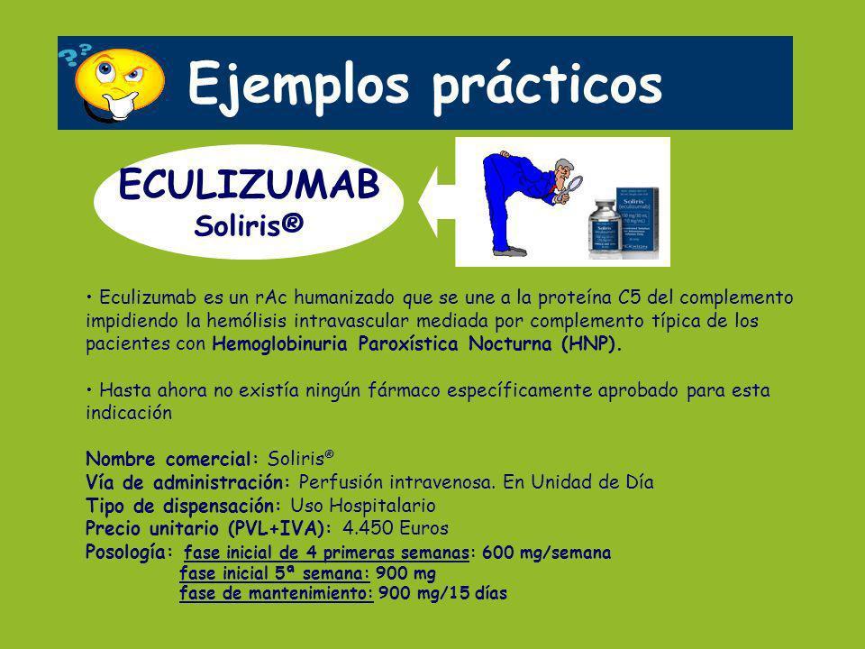 Ejemplos prácticos ECULIZUMAB Soliris®