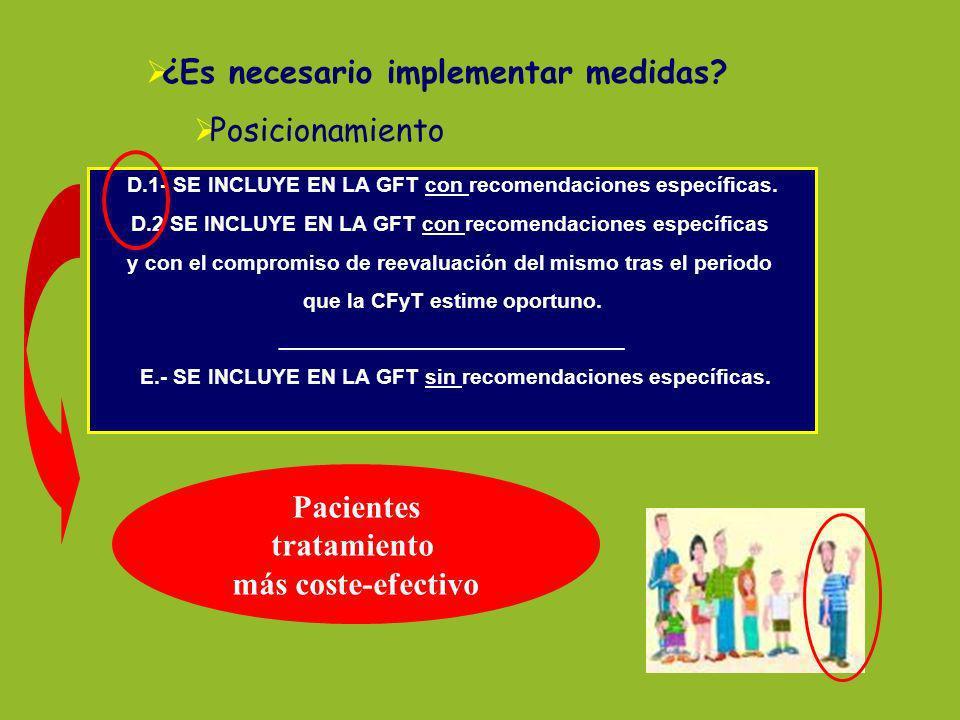 Pacientes tratamiento más coste-efectivo