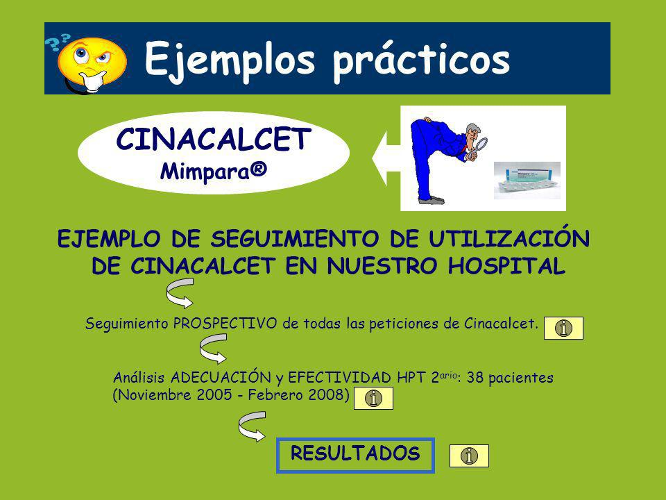 Ejemplos prácticos CINACALCET Mimpara®