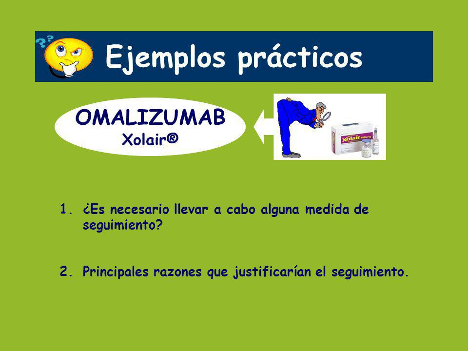 Ejemplos prácticos OMALIZUMAB Xolair®