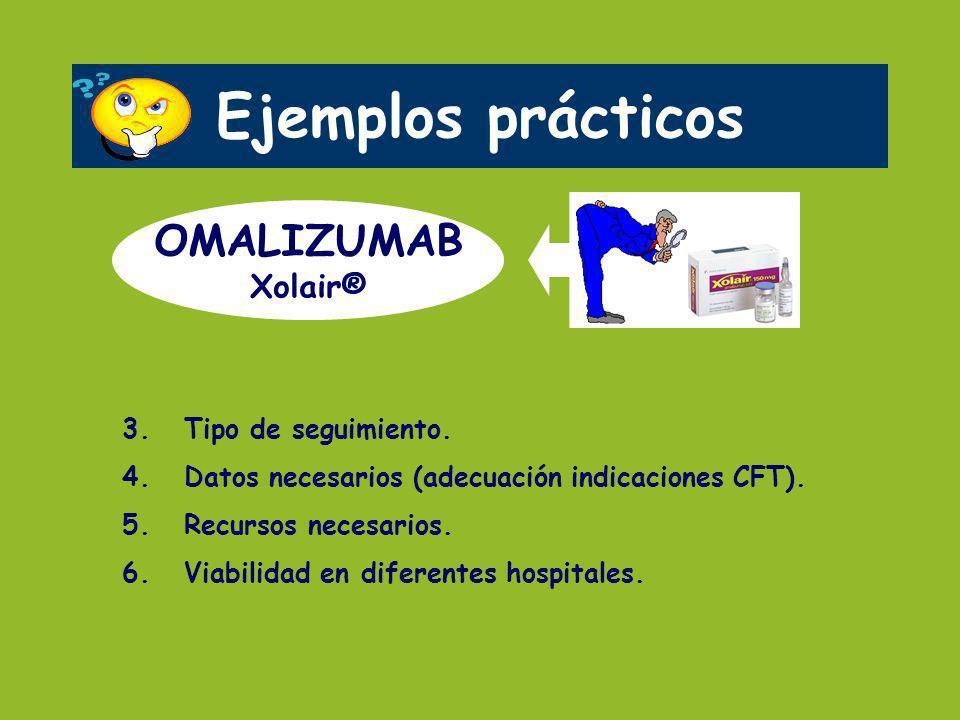 Ejemplos prácticos OMALIZUMAB Xolair® 3. Tipo de seguimiento.