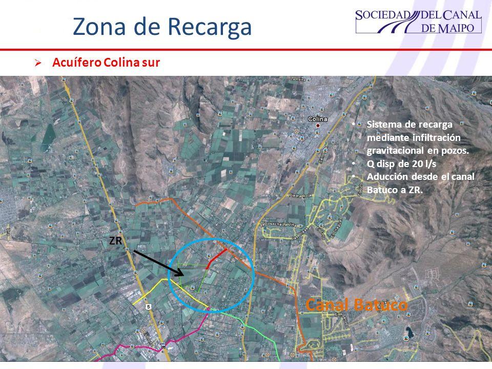 Zona de Recarga Canal Batuco Acuífero Colina sur ZR