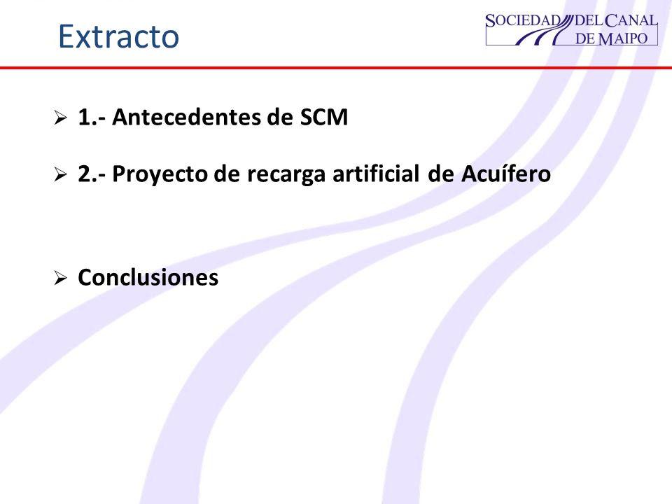 Extracto 1.- Antecedentes de SCM