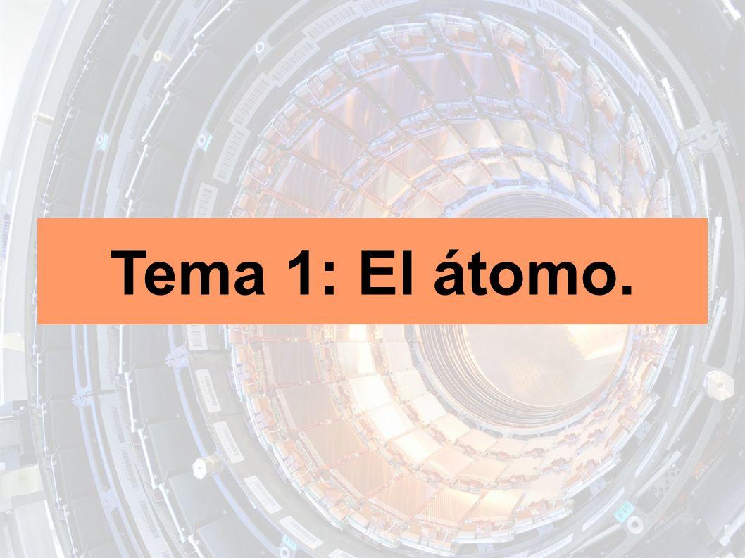 Tema 1: El átomo.