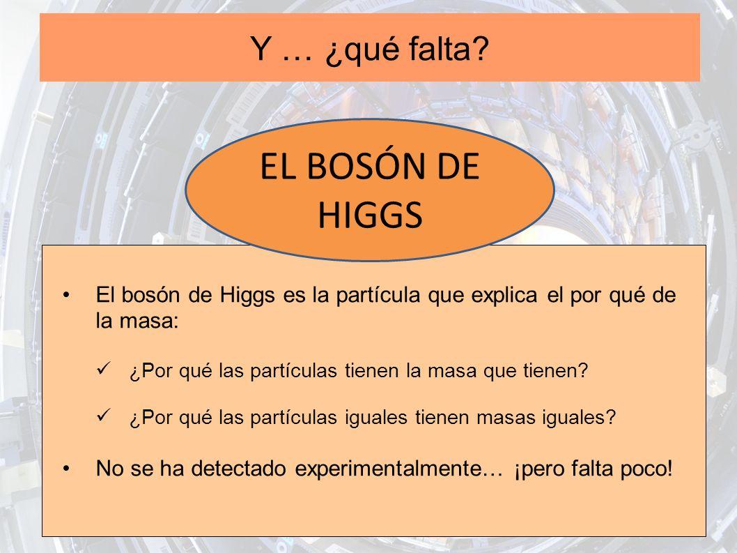 EL BOSÓN DE HIGGS Y … ¿qué falta