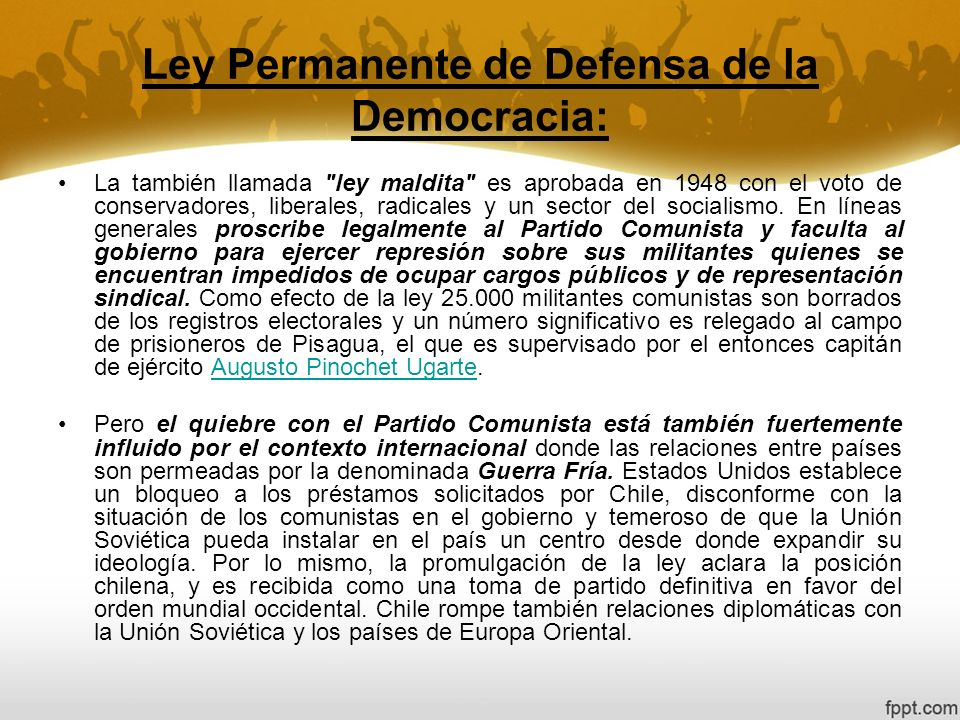 Ley Permanente de Defensa de la Democracia: