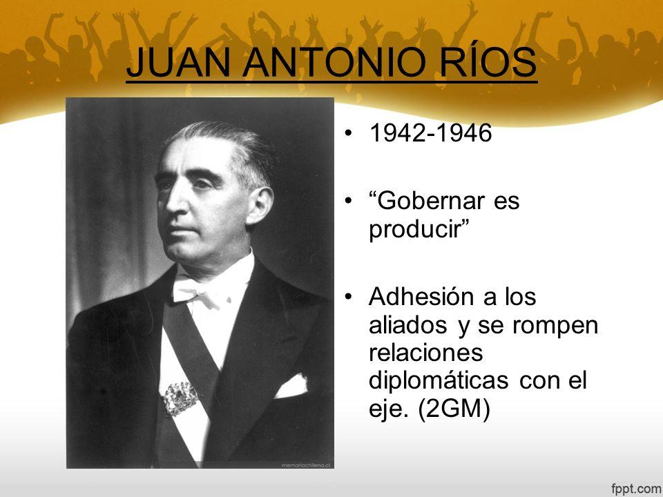 JUAN ANTONIO RÍOS 1942-1946 Gobernar es producir