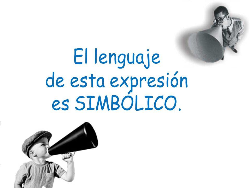 El lenguaje de esta expresión es SIMBÓLICO.