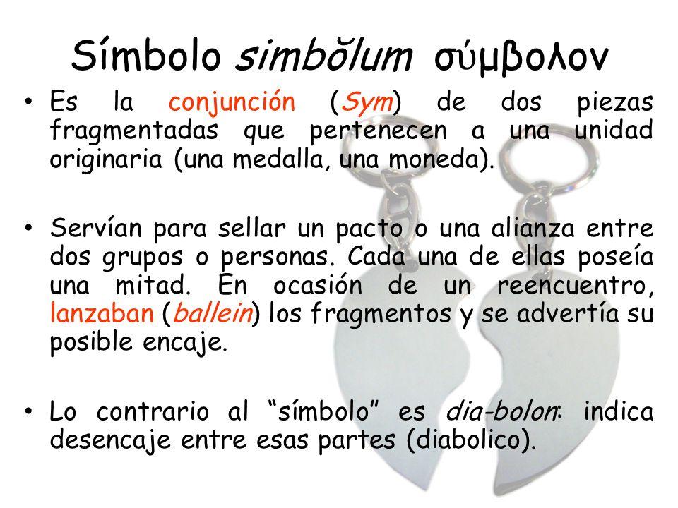 Símbolo simbŏlum σύμβολον