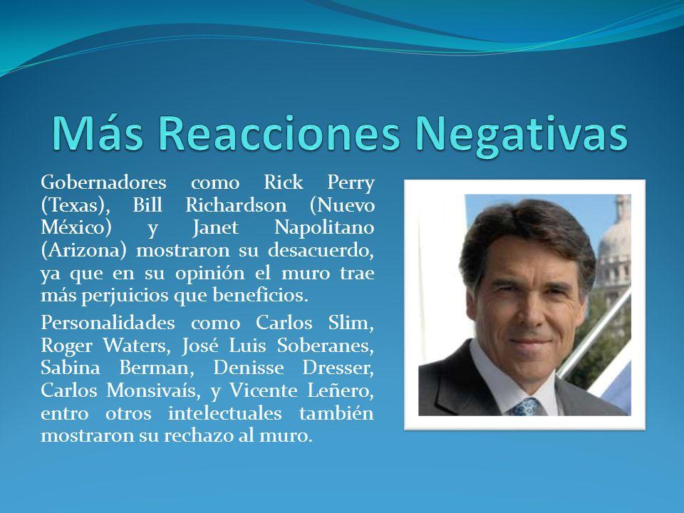 Más Reacciones Negativas