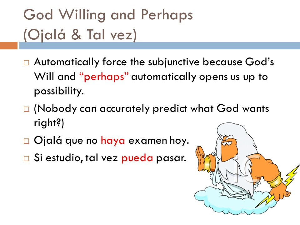 God Willing and Perhaps (Ojalá & Tal vez)
