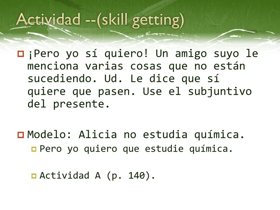 Actividad --(skill getting)