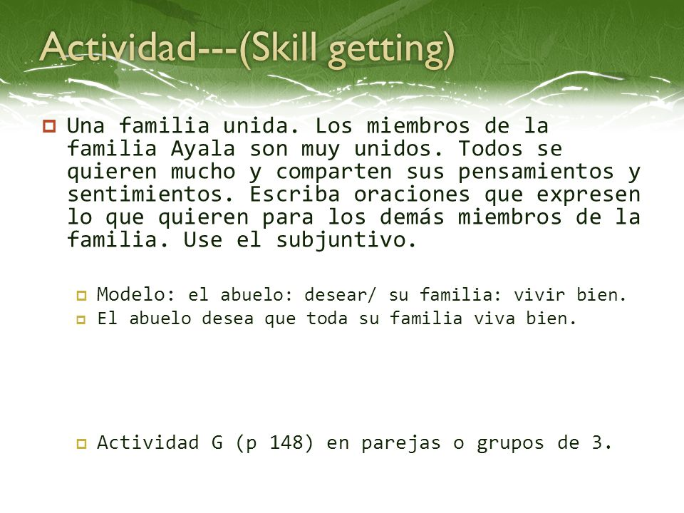 Actividad---(Skill getting)