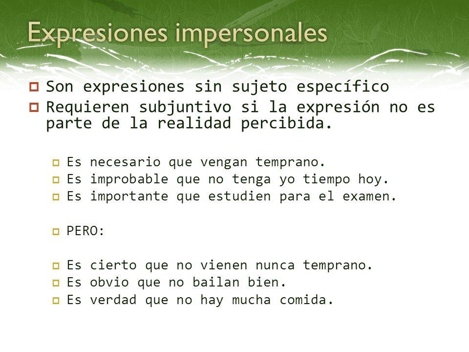 Expresiones impersonales