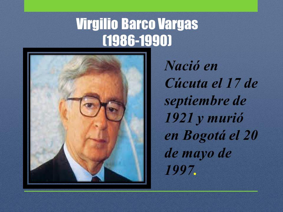 Virgilio Barco Vargas (1986-1990)