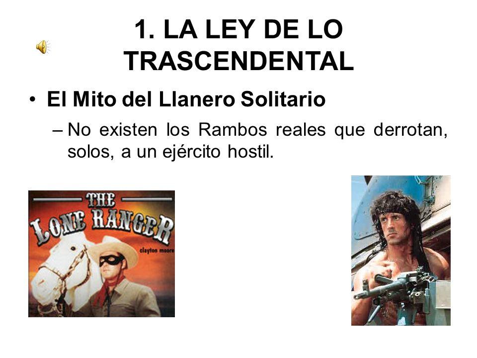 1. LA LEY DE LO TRASCENDENTAL