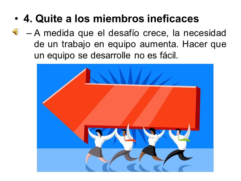4. Quite a los miembros ineficaces