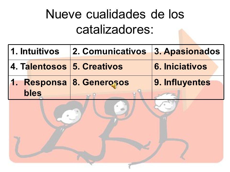 Nueve cualidades de los catalizadores: