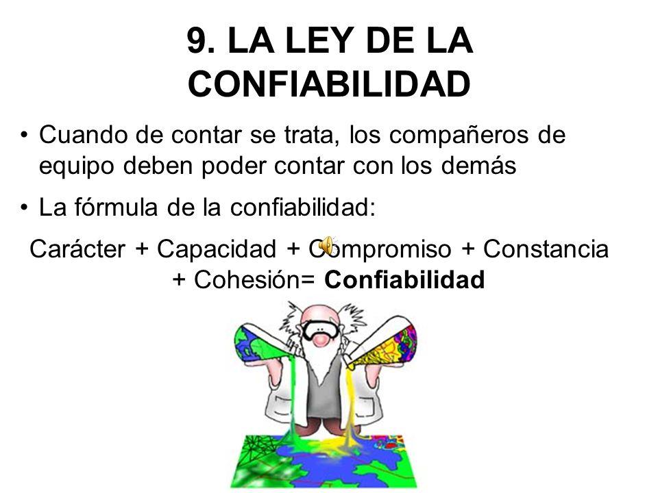 9. LA LEY DE LA CONFIABILIDAD