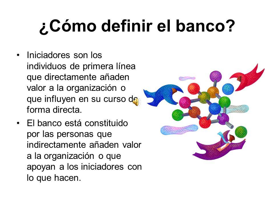 ¿Cómo definir el banco
