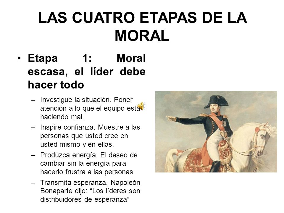 LAS CUATRO ETAPAS DE LA MORAL