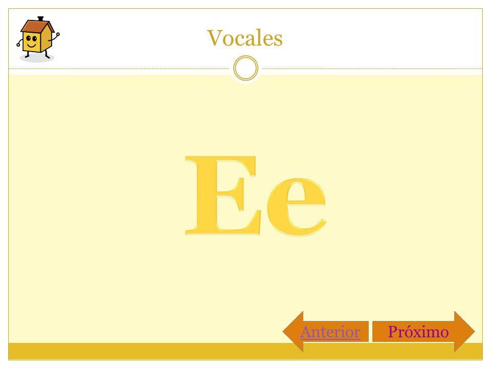 Vocales Ee Anterior Próximo