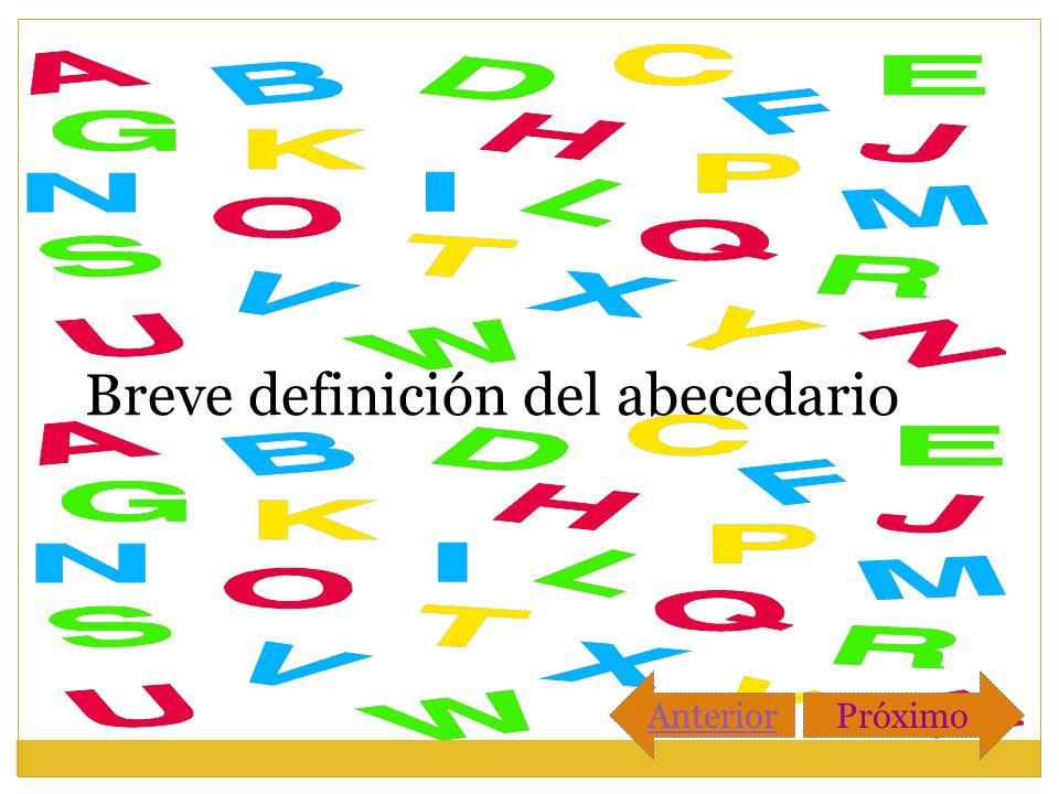 Breve definición del abecedario