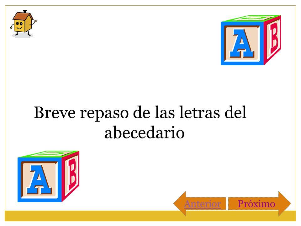 Breve repaso de las letras del abecedario