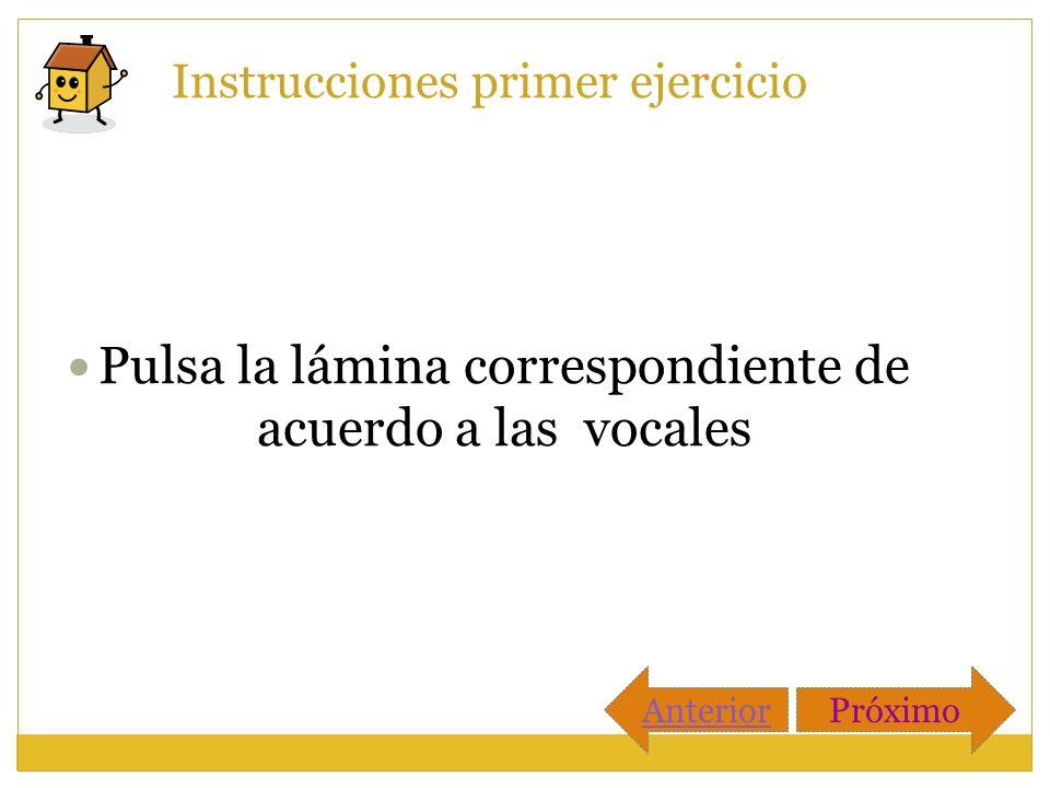 Instrucciones primer ejercicio