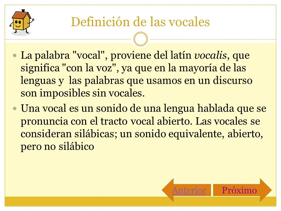 Definición de las vocales