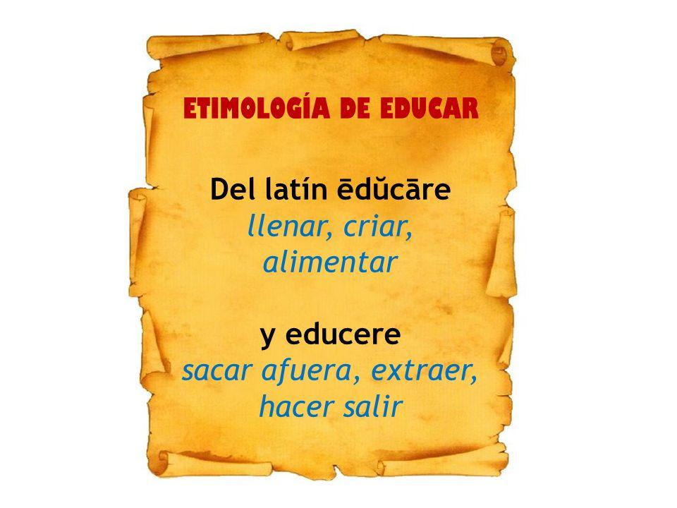 Del latín ēdŭcāre y educere