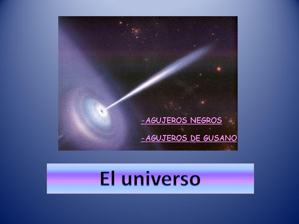 -AGUJEROS NEGROS -AGUJEROS DE GUSANO El universo El universo
