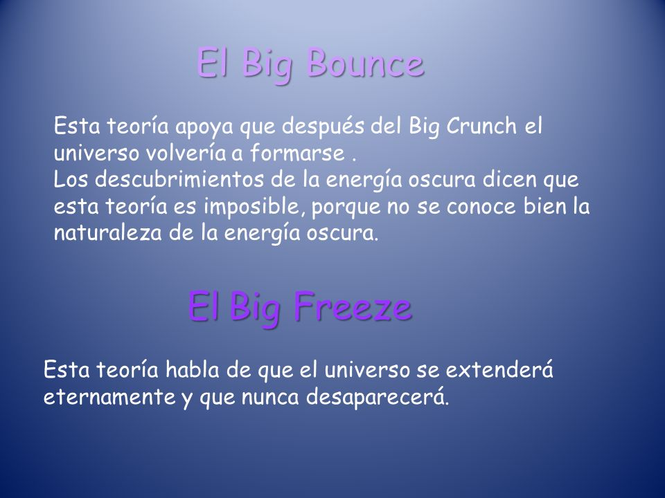 El Big Bounce El Big Freeze