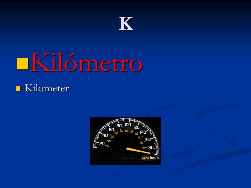 K Kilómetro Kilometer
