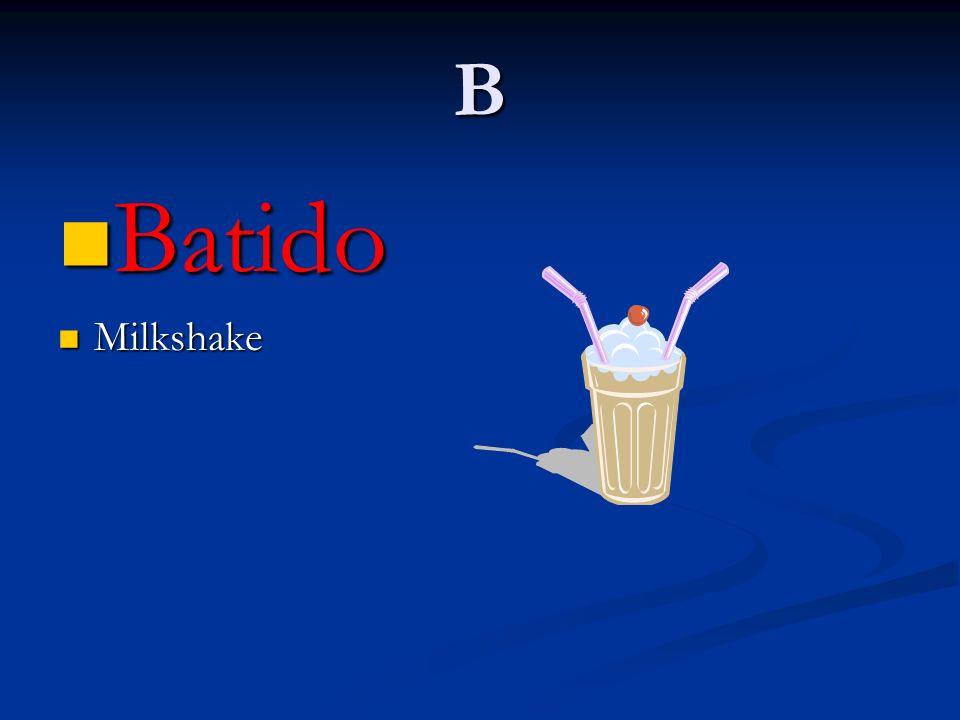 B Batido Milkshake