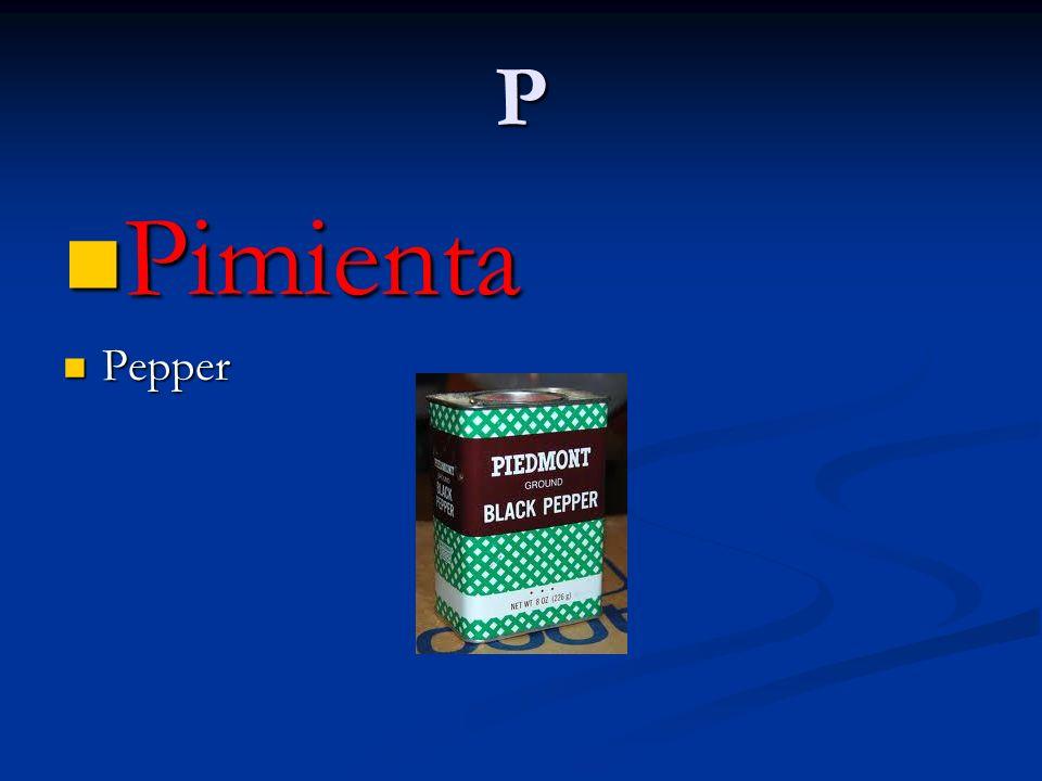 P Pimienta Pepper