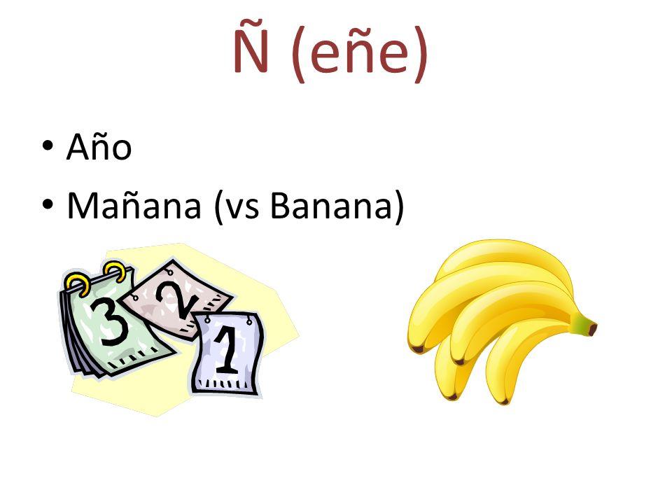 Ñ (eñe) Año Mañana (vs Banana)