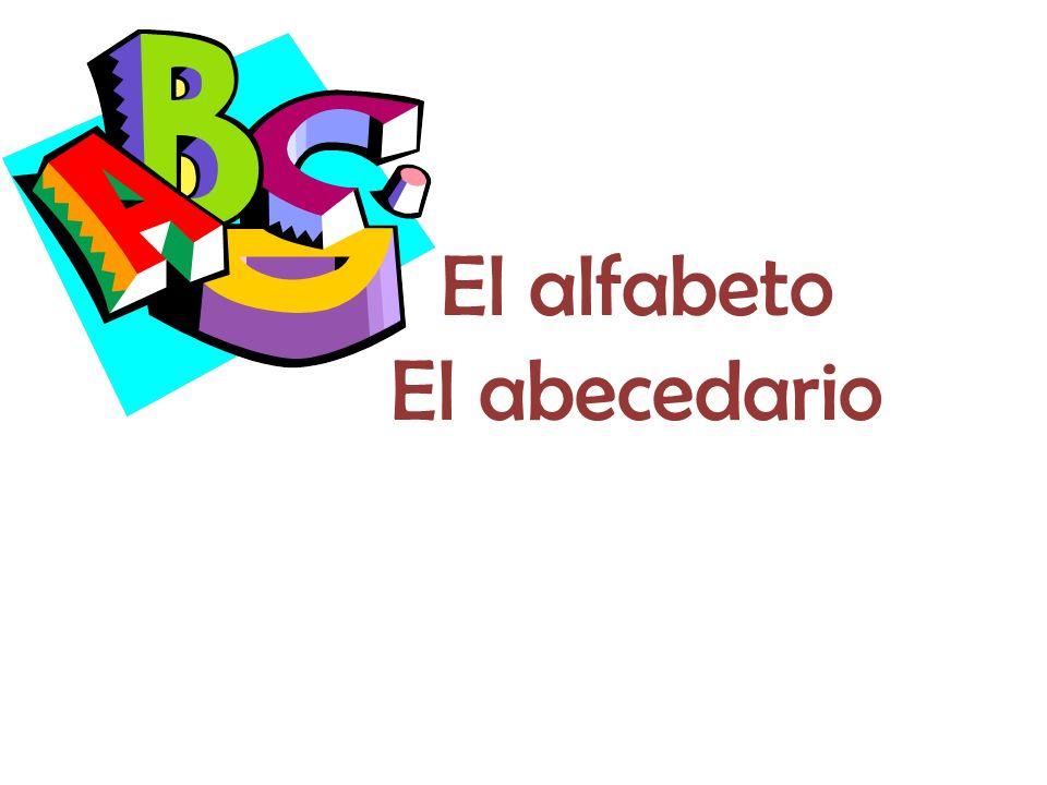 El alfabeto El abecedario