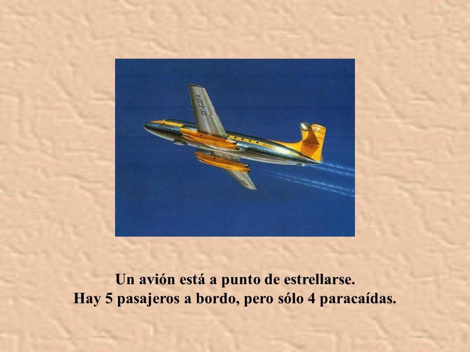 Un avión está a punto de estrellarse.