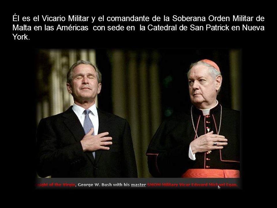 Él es el Vicario Militar y el comandante de la Soberana Orden Militar de Malta en las Américas con sede en la Catedral de San Patrick en Nueva York.